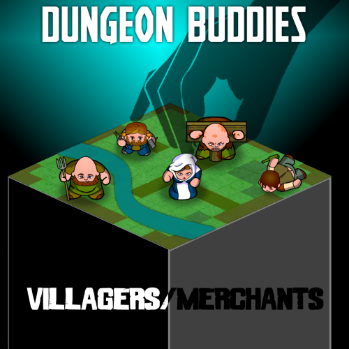 Dungeon Buddies Fantasy Tokens - Villagers and Merchants