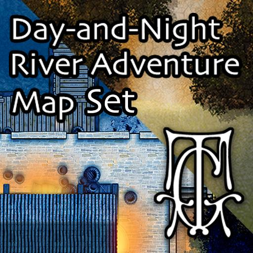 Day-and-Night River Adventure Map Set