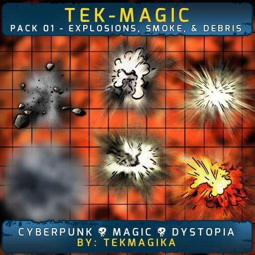 Tek-magic Pack 1 - Explosions, Smoke, & Debris