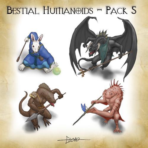 Bestial Humanoids - Pack 5