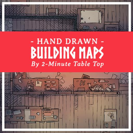 Hand Drawn Building Maps Pack 3