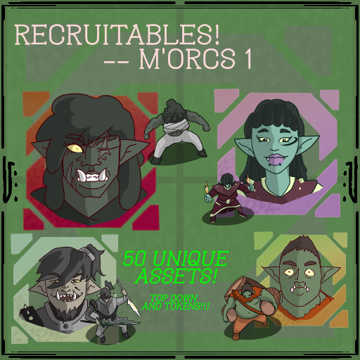 Recruitables - M'Orcs (HalfOrcs) 1