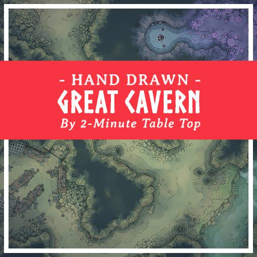 Hand Drawn Great Cavern Map Pack