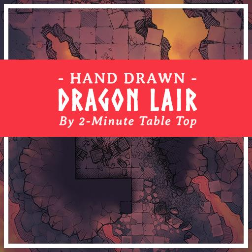 Hand Drawn Red Dragon's Lair Map Pack