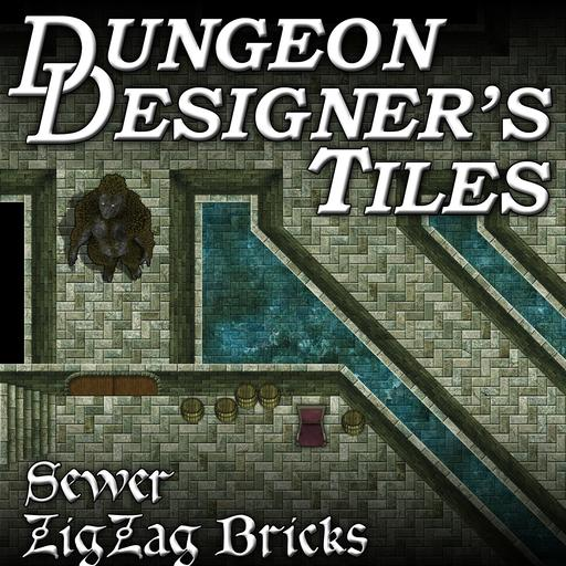 Dungeon Designers Tiles - Sewer Zig Zag Bricks