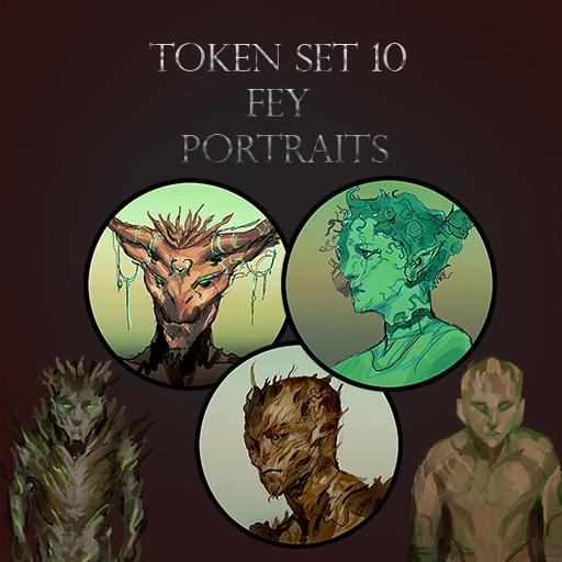 Token Set # 10 Fey Portraits