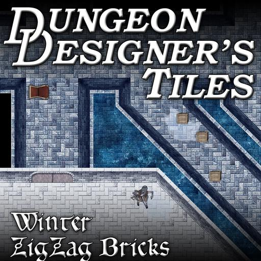 Dungeon Designers Tiles - Winter Zig Zag Bricks
