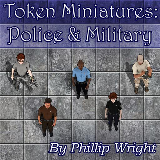 Token Miniatures - Police & Military