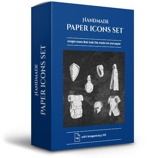 Handmade Paper Icons Set