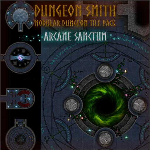 Dungeon Smith, Modular Dungeon Tile Pack Arcane Sanctum