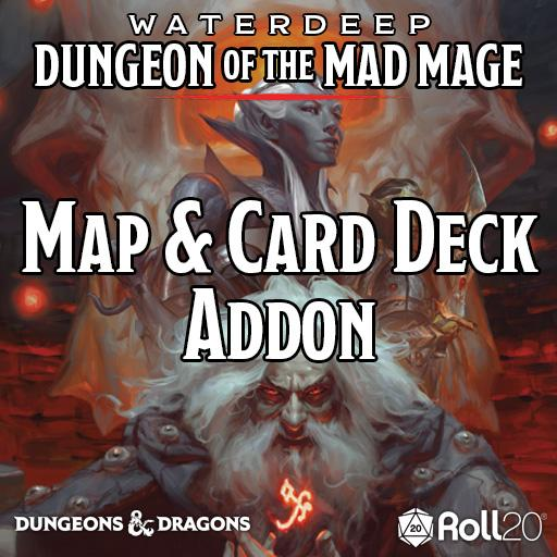 Waterdeep: Dungeon of the Mad Mage (Map & Card Deck Addon)