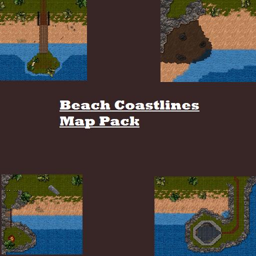 Beach Coastlines Map Pack