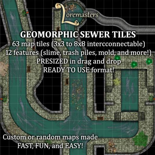 Geomorphic Sewer Tiles