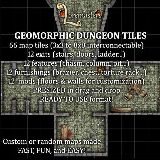 Geomorphic Dungeon Tiles