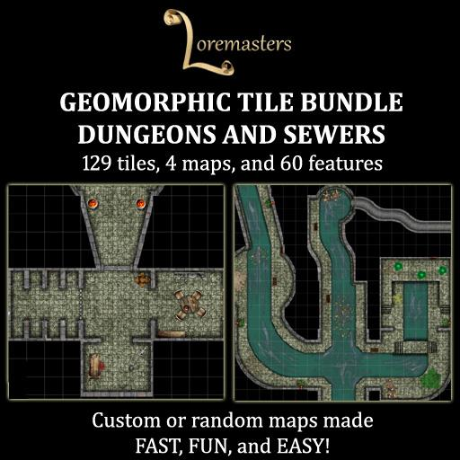 Geomorphic Dungeon & Sewer Tile Bundle