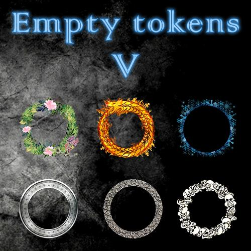 Empty Tokens Pack 5