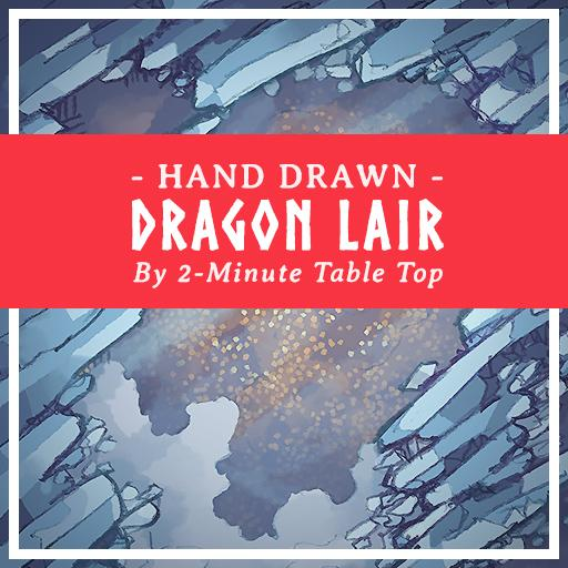 Hand Drawn White Dragon's Lair Snow Map Pack