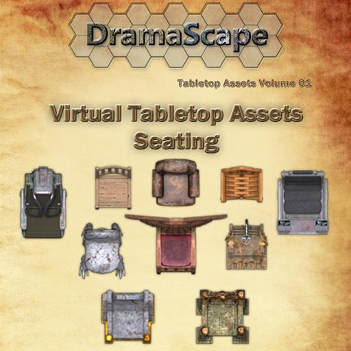 Virtual Tabletop Assets: Seating