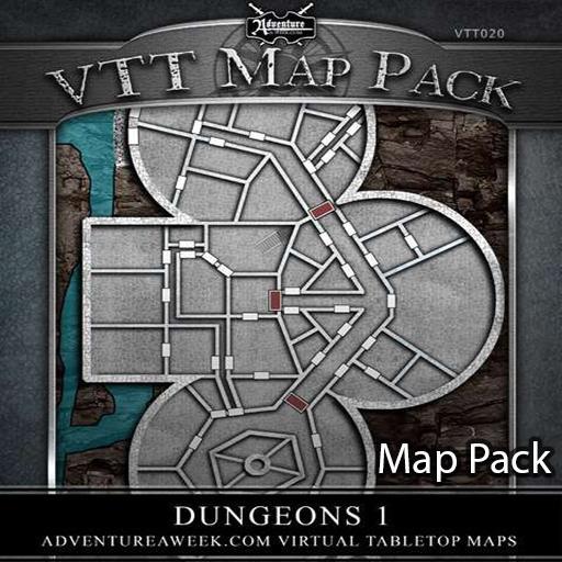 VTT Map Pack: Dungeons 1