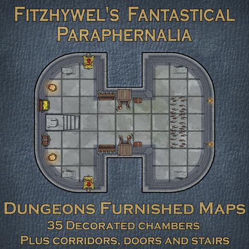 Fitzhywel's Fantastical Paraphernalia Dungeons Furnished Maps