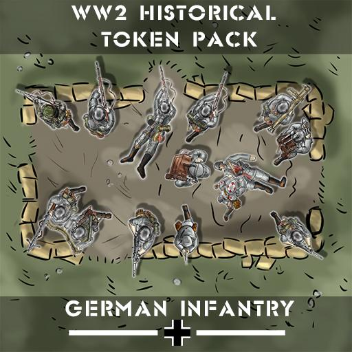 WW2 Historical Token Pack: German Infantry