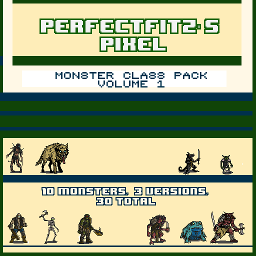 Pixel Monster Pack Vol 1