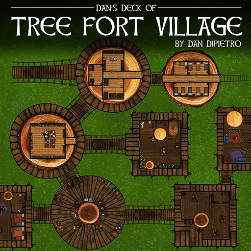 Dan's Deck of Tree Fort Village