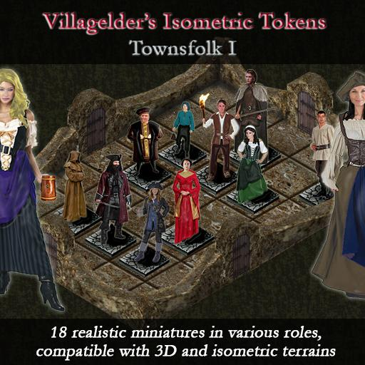 Isometric Tokens - Townsfolk I