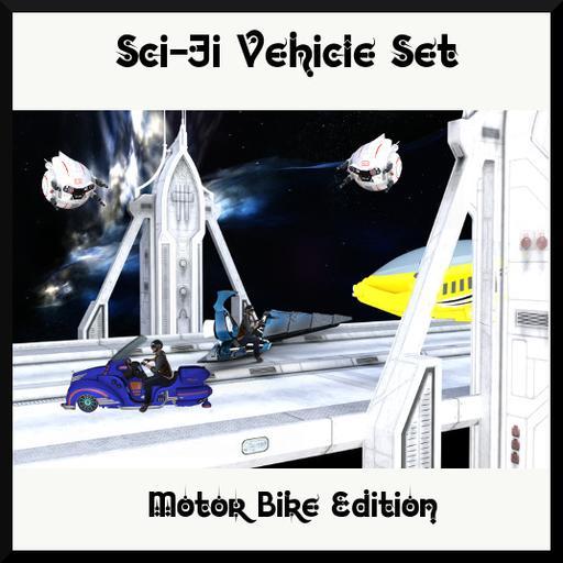 Sci-Fi Vehicle Set: Motorbike Edition