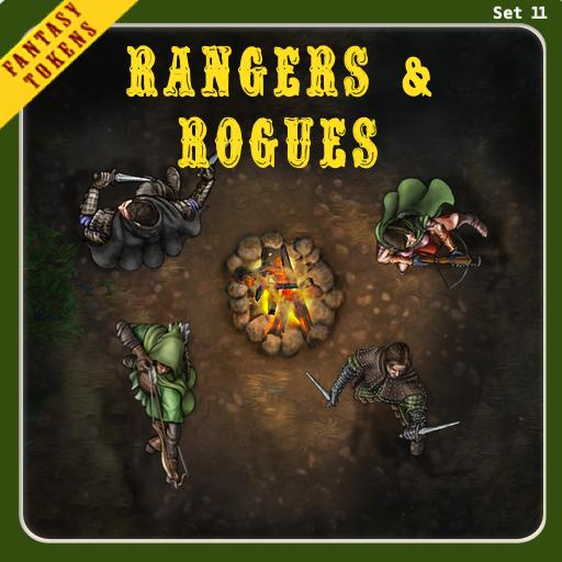Fantasy Tokens Set 11, Rangers & Rogues