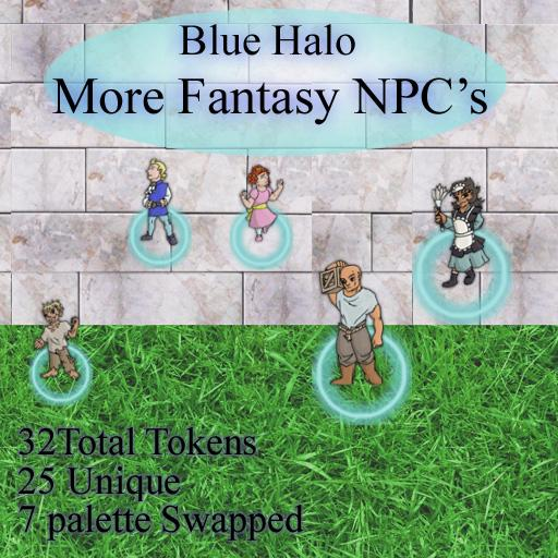 Blue Halo More Fantasy NPC's