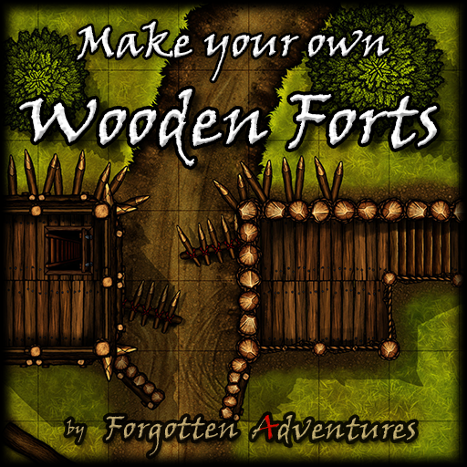 Make your own Wooden Forts, Tile Set Pack