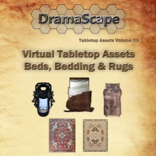 Virtual Tabletop Assets, Beds, Bedding and Rugs