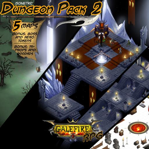 Isometric Dungeon Pack 2 - Obsidian Spire