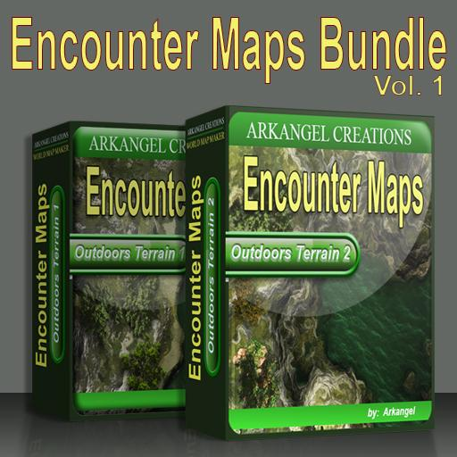 Encounter Maps Bundle (Outdoors Terrain 1 and 2)