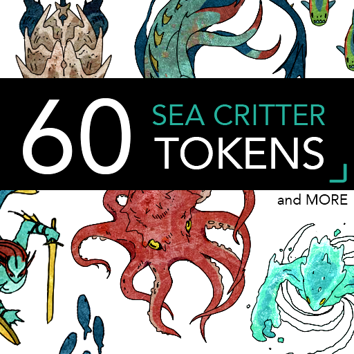 60 Sea Critter Tokens and More
