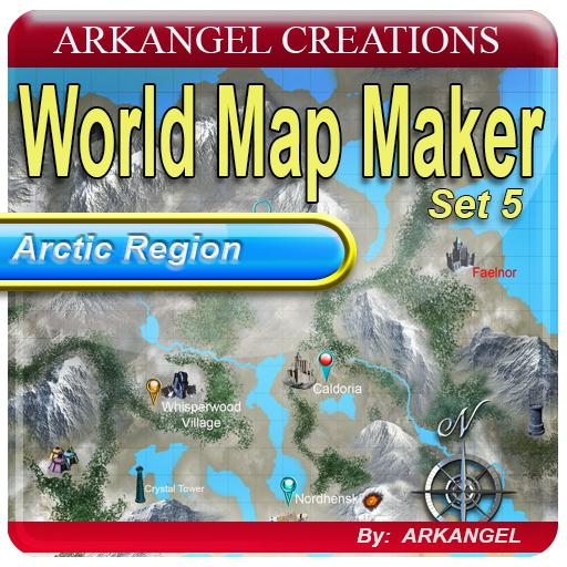World Map Maker Set 5: Arctic Region