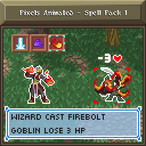 Pixels Animated - Spell Pack 1 ANIMATION PACK