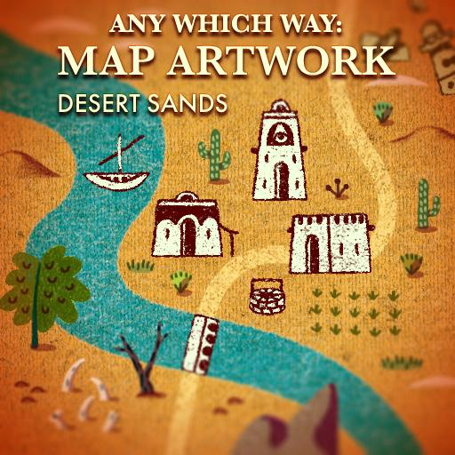 Any Which Way: Map Artwork Desert Sands