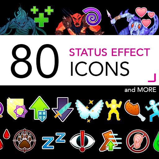 80 Status Effect Icons