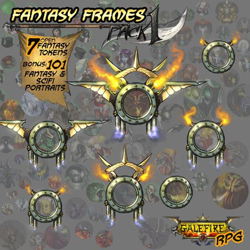 Fantasy Frames + 101 fantasy/scifi portraits