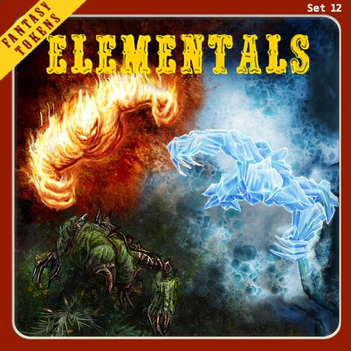 Fantasy Tokens Set 12, Elementals