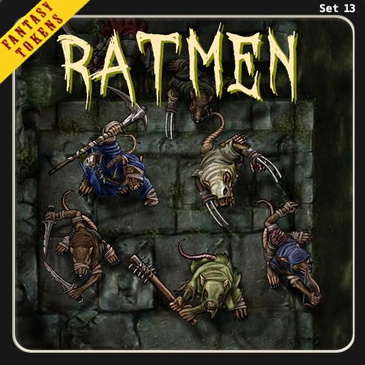 Fantasy Tokens Set 13, Ratmen