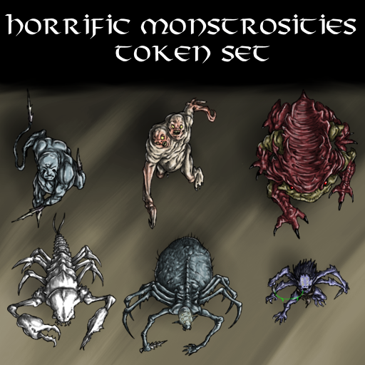 Horrific Monstrosities Token Set