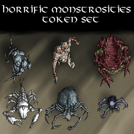 Horrific Monstrosities Token Set
