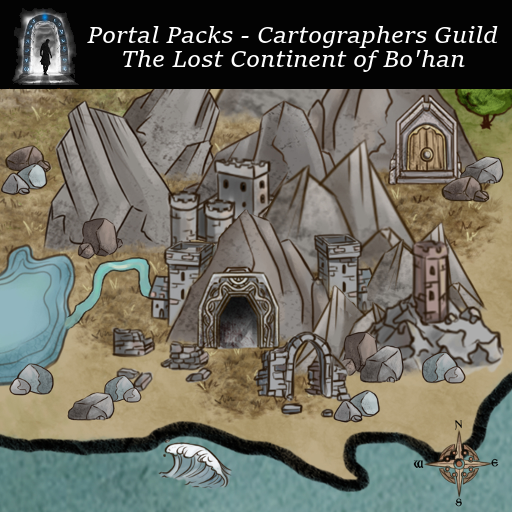 Portal Packs - Cartographers Guild - The Lost Continent of Bo'han