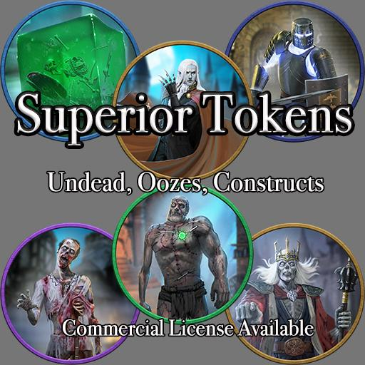 5E SRD Tokens - Undead, Oozes & Constructs
