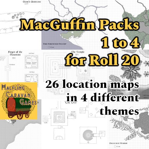MacGuffin Packs 1 to 4