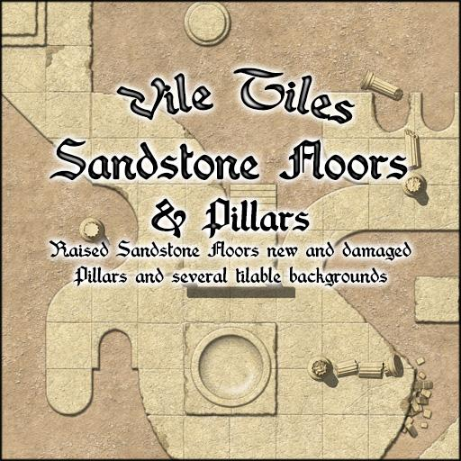 Vile Tiles: Sandstone Floors & Pillars