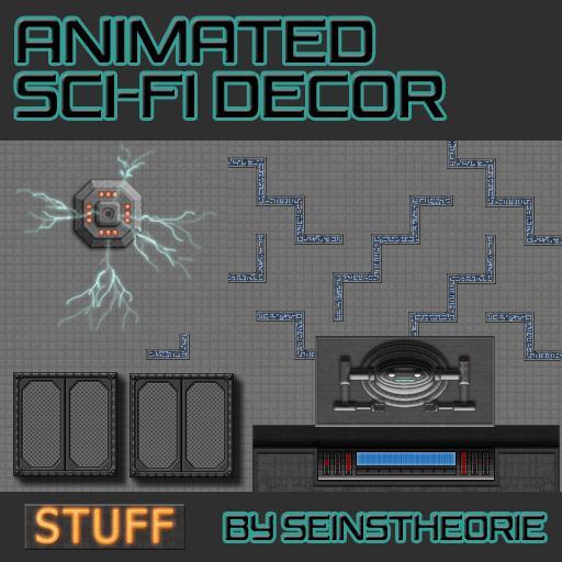 Animated Sci-Fi Decor